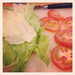 lettuce and tomato for BLTs